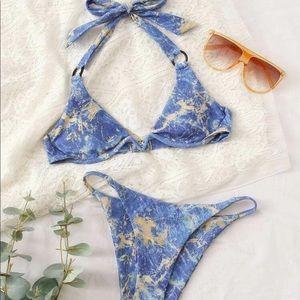 Other - New xs marble blue bikini set